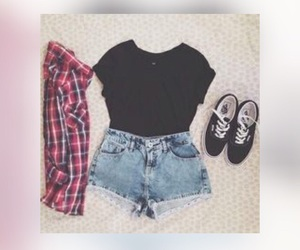 outfit, short, and vans image