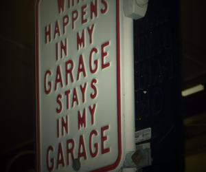 funny, garage, and photo image