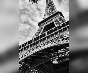beautiful, black & white, and eiffel tower image