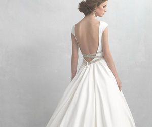 wedding, dress, and gown image