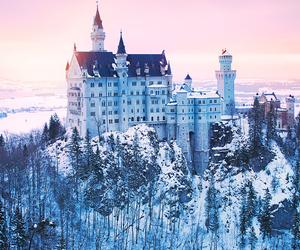 castle, landscape, and winter image