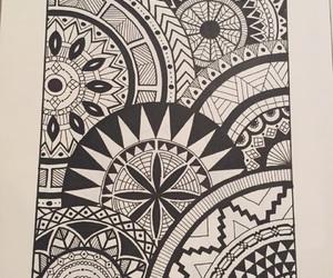 blackandwhite, mandala, and circles image