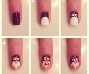 nails, diy, and penguin image