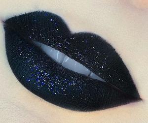 black and lips image