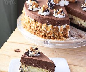 food, cheesecake, and chocolate image