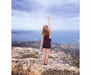 freedom, girl, and landscape image