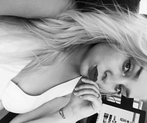 girl, septum, and tattoo image