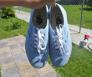 blue, vans, and white image