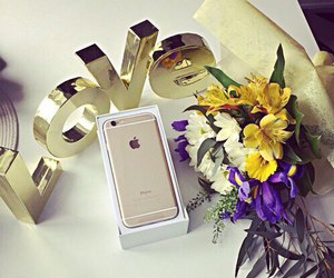 iphone, love, and iphone 6 gold image