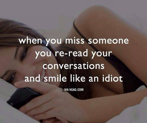 smile, idiot, and miss image