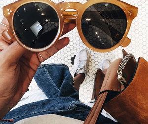 sunglasses, orange, and blue image