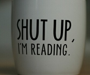 books, funny, and mug image