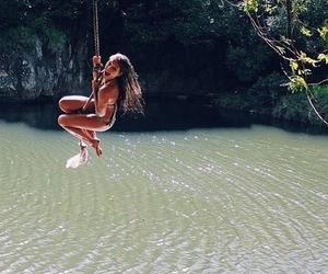 summer, girl, and fun image