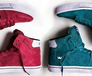 footwear, girl, and supra image