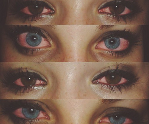 eyes, weed, and sad image