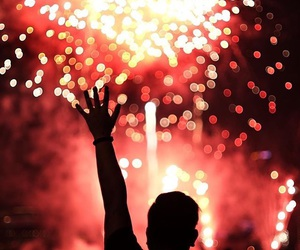 feeling, fireworks, and heartbeat image