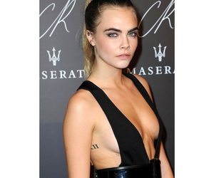 black, outfit, and delevingne image