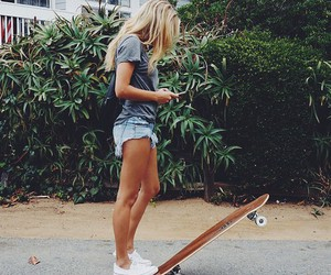 girl, summer, and skate image