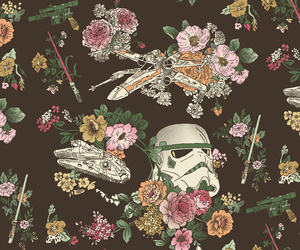 star wars, flowers, and wallpaper image
