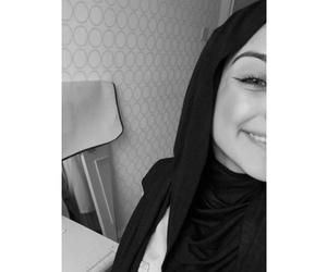 beauty, hijab, and black image