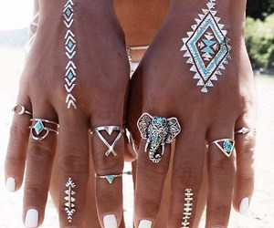 rings, beautiful, and elephant image