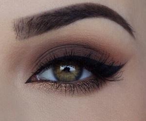 brown, eyes, and eyeliner image
