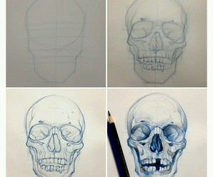 skull and how to draw image