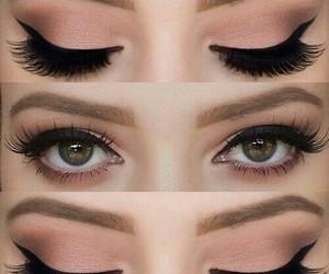 eye lashes, eye make up, and tutorial image