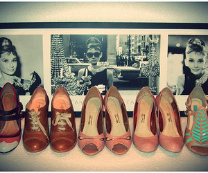 audrey, fashion, and shoes image