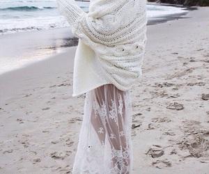 beach, fashion, and white image