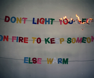 quotes, fire, and grunge image