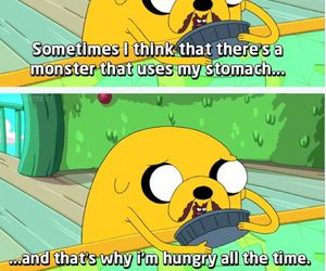 adventure time, hungry, and JAKe image