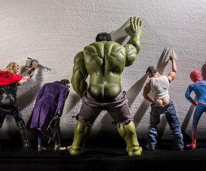 Hulk, thor, and funny image