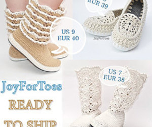 creative, slippers, and crochet image