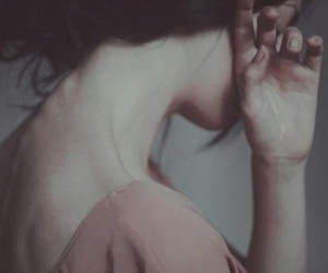 woman. pain. brown hair image