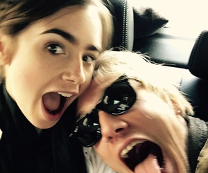 lily collins, love, and Jamie Campbell Bower image
