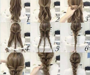 coiffure, cheveux, and tresse image