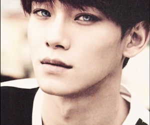blue eyes, Chen, and exo image