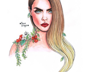 fan art, models, and cara delevingne image
