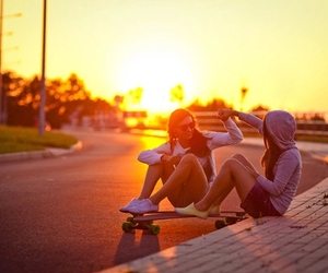 skate, sun, and ​bestfriend image