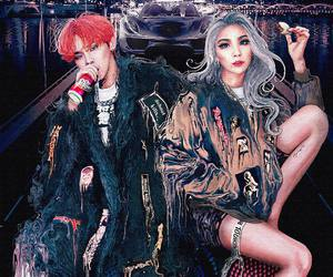CL, gd, and g-dragon image