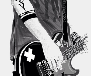 Clifford, fan art, and guitar image