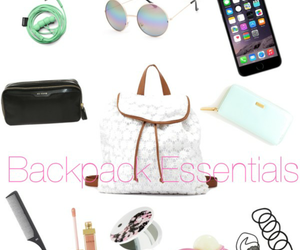 backpack, essentials, and makeup image