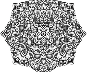 mandala, stress relief, and coloring pages image
