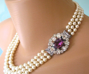 art deco, pearl necklace, and etsy image