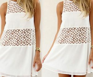 bohemian, boho, and lace dress image
