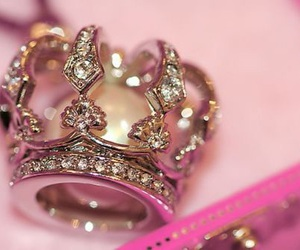 crown, pink, and princess image