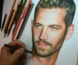 paul walker and drawing image