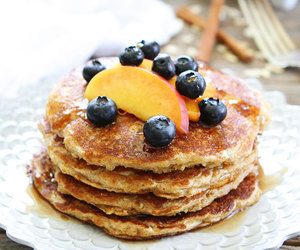 food, pancakes, and oats image