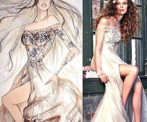 details, luxury, and wedding dress image